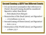 second coming ad70 two different events3