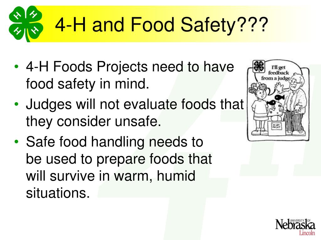 4-H and Food Safety???