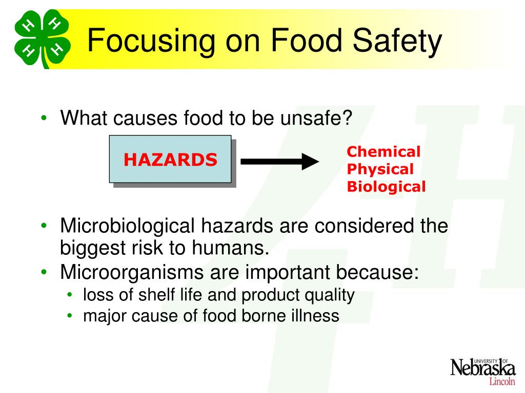 What causes food to be unsafe?