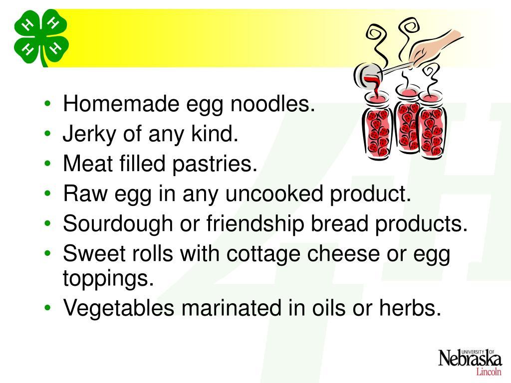 Homemade egg noodles.