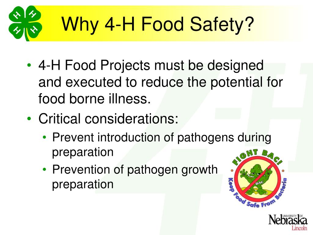Why 4-H Food Safety?