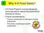 why 4 h food safety