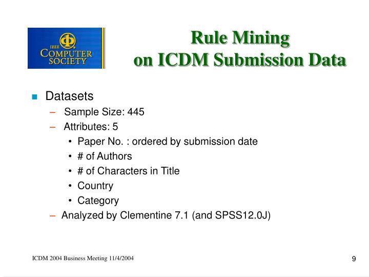 Rule Mining