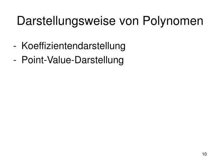 Darstellungsweise von Polynomen