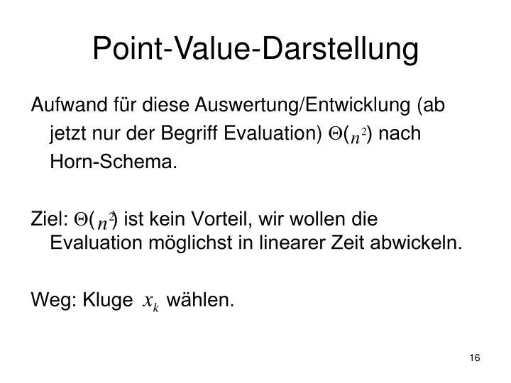 Point-Value-Darstellung