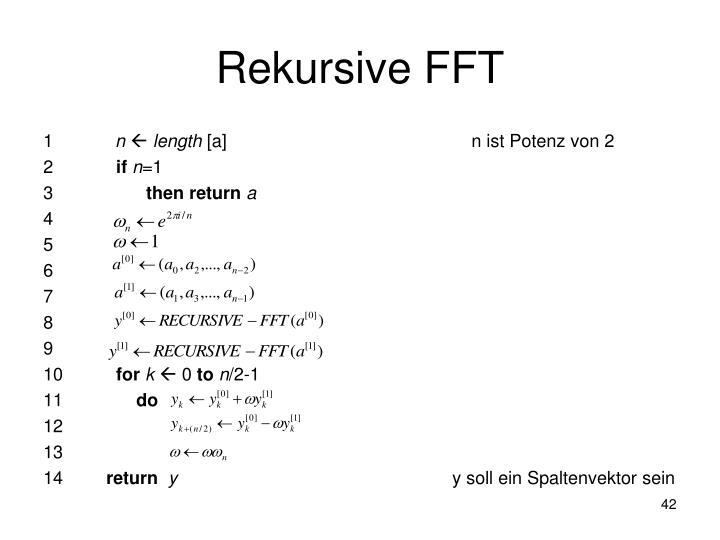 Rekursive FFT
