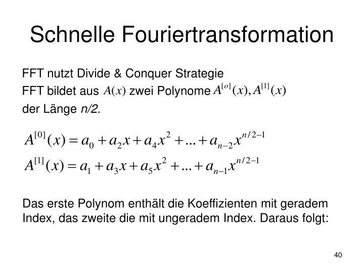 Schnelle Fouriertransformation