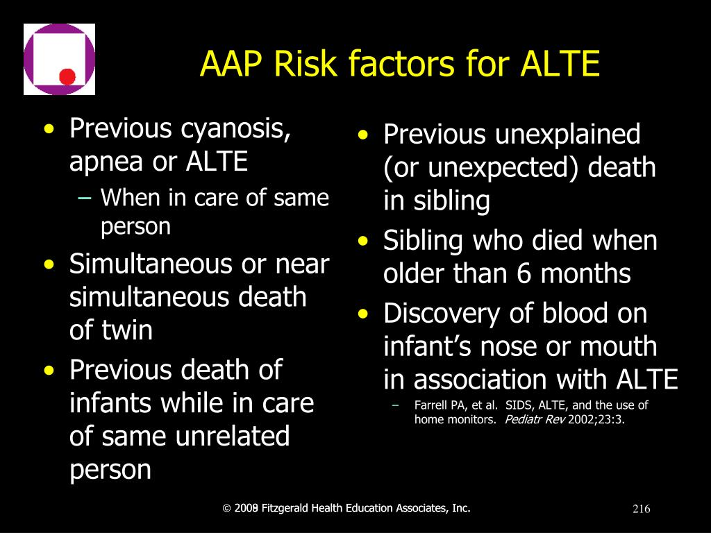 AAP Risk factors for ALTE
