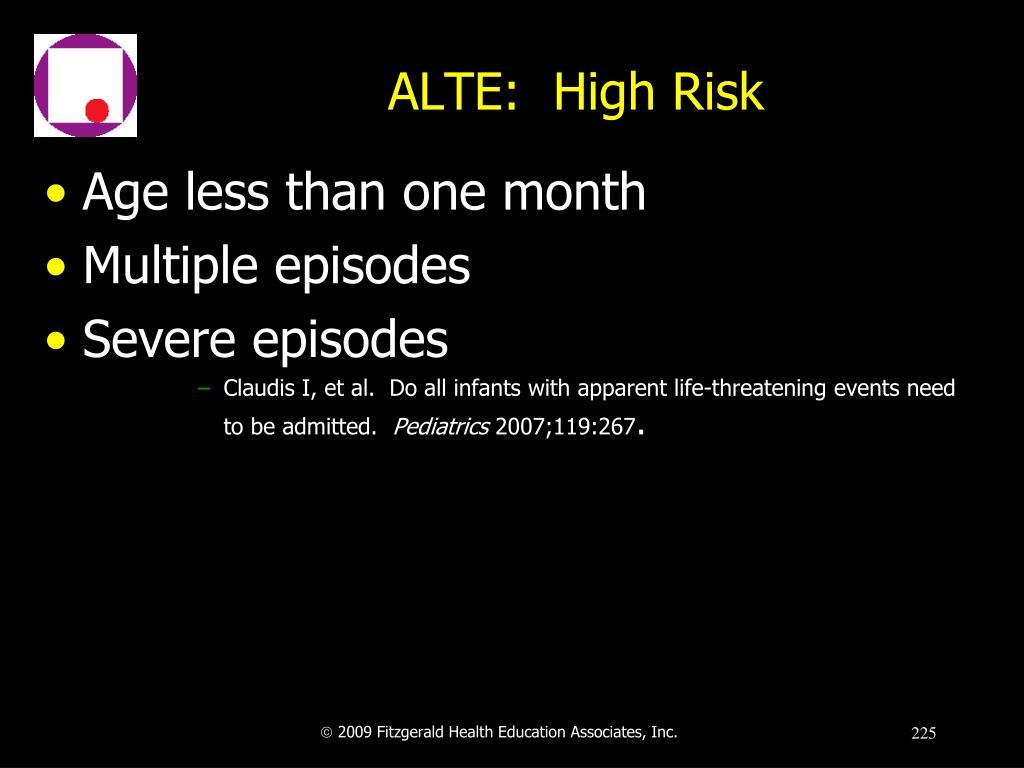 ALTE:  High Risk