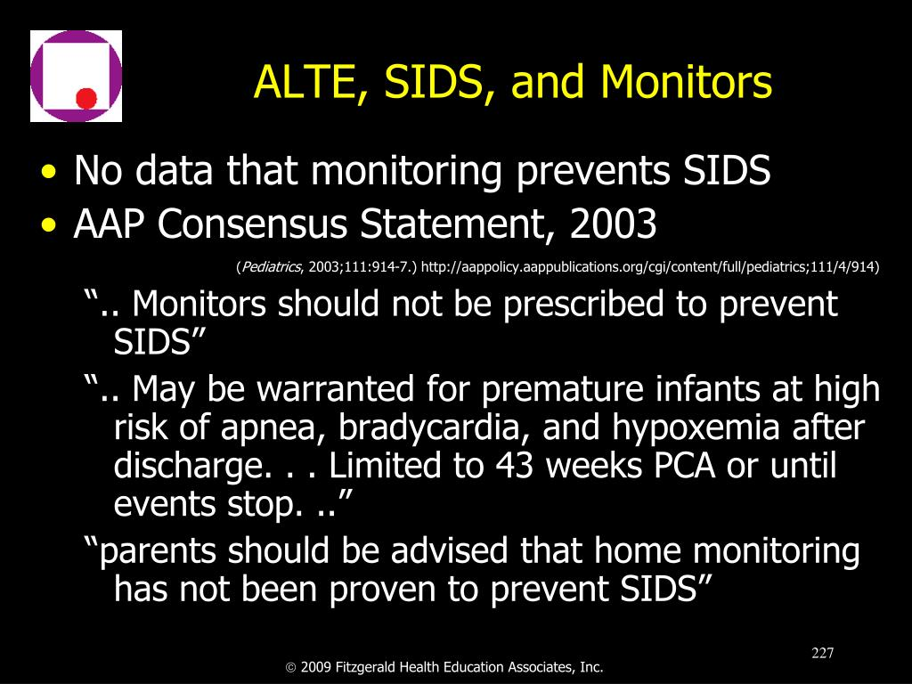 ALTE, SIDS, and Monitors