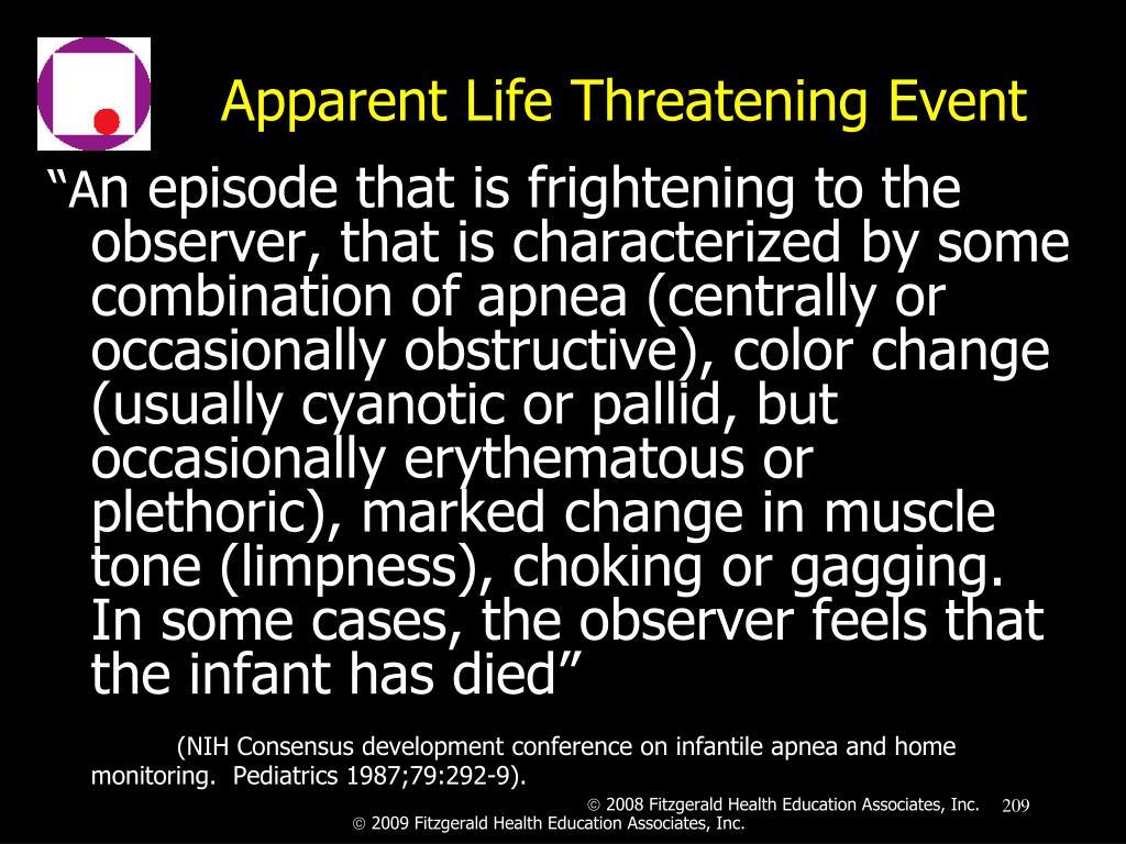 Apparent Life Threatening Event