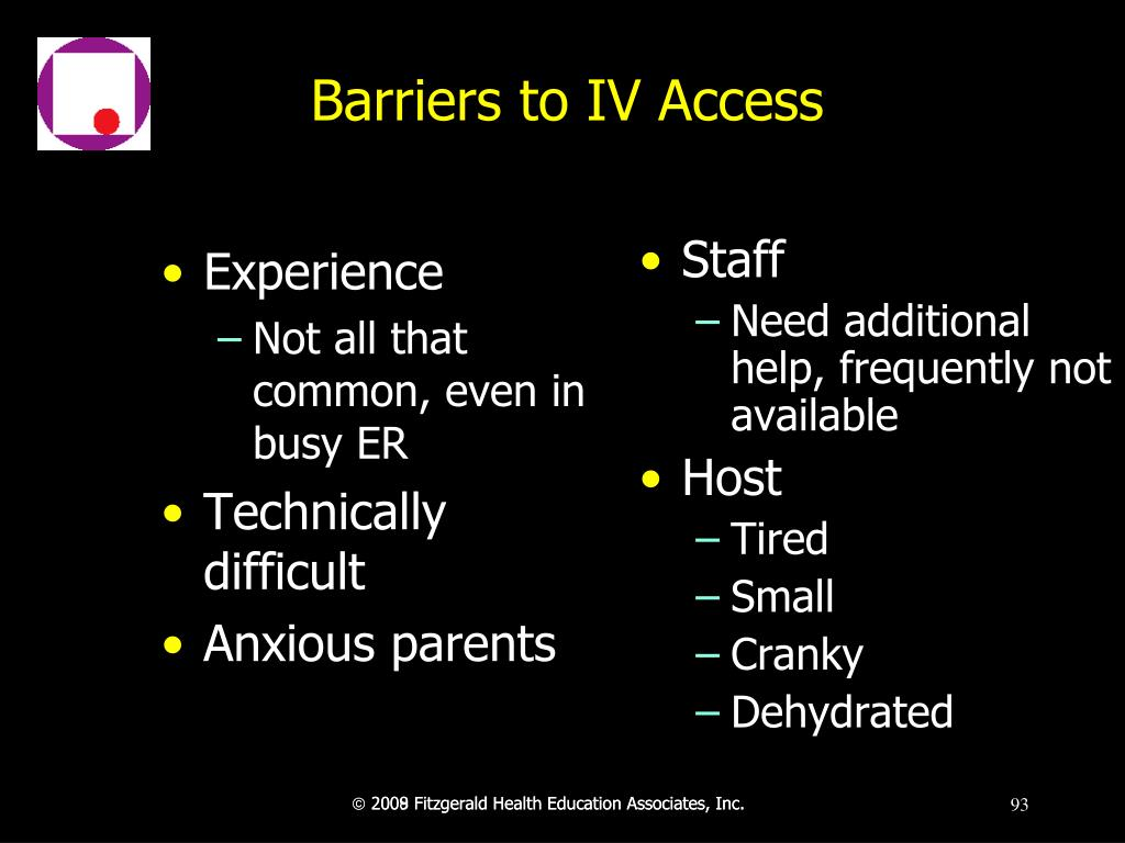 Barriers to IV Access