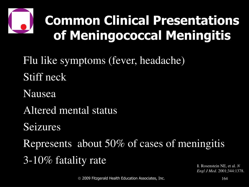 Common Clinical Presentations of Meningococcal Meningitis