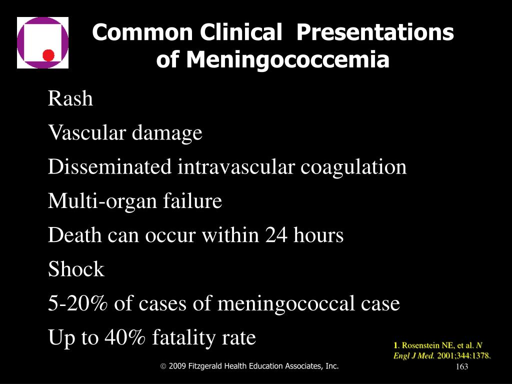Common Clinical  Presentations of Meningococcemia