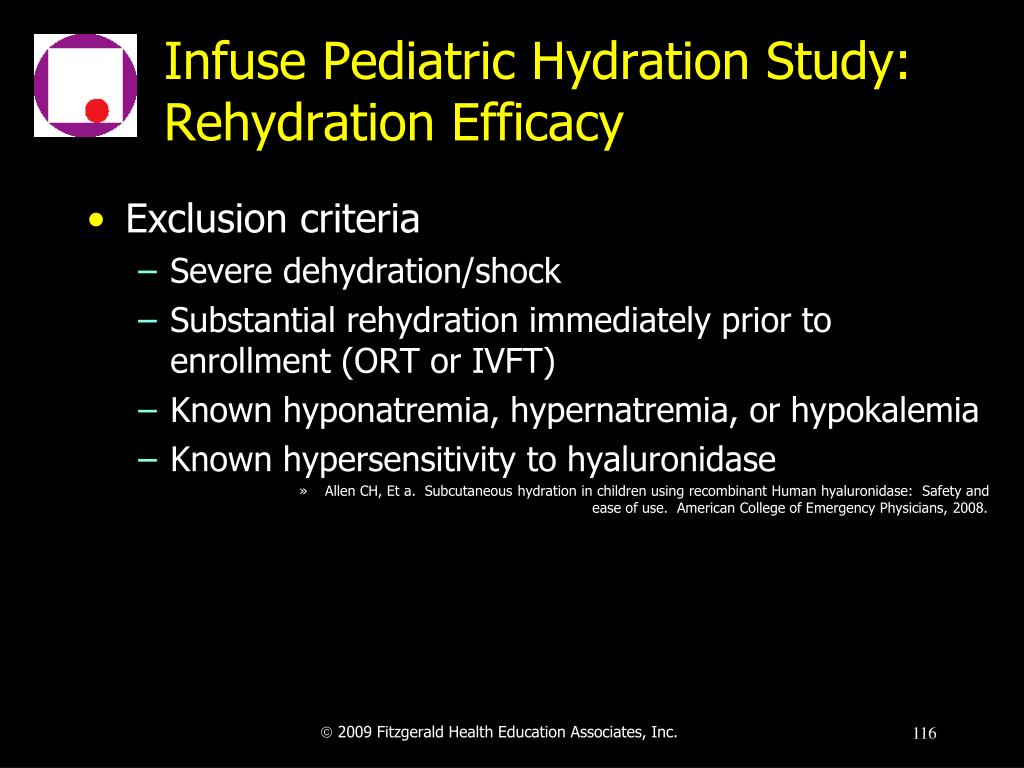 Infuse Pediatric Hydration Study: