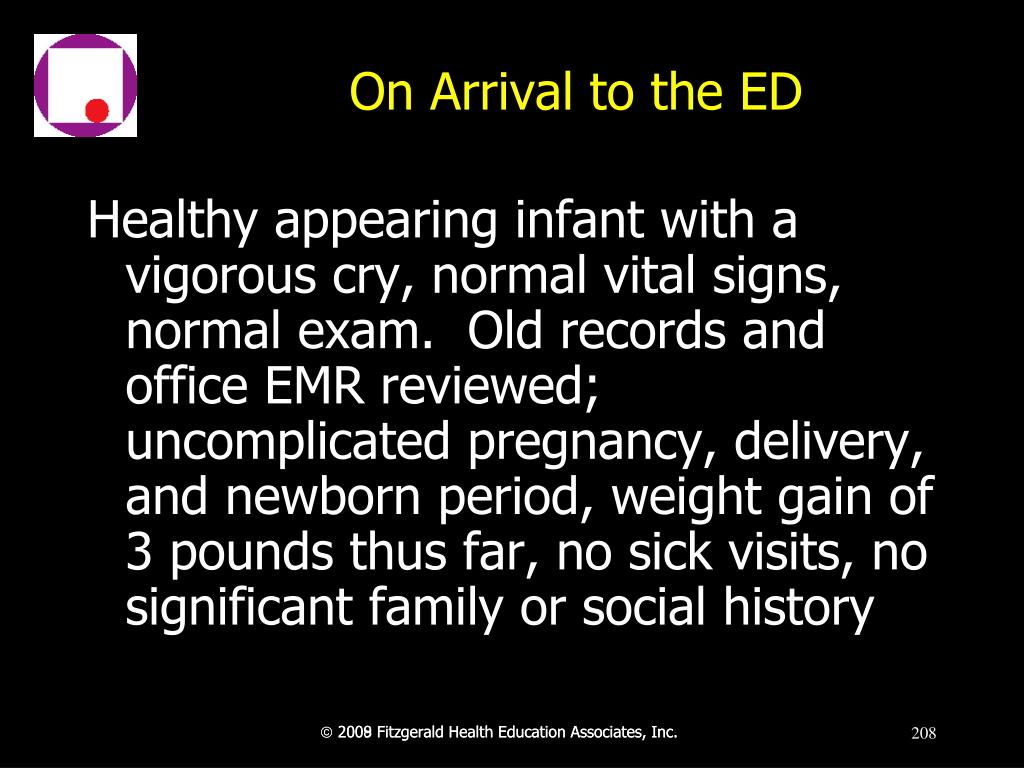 On Arrival to the ED