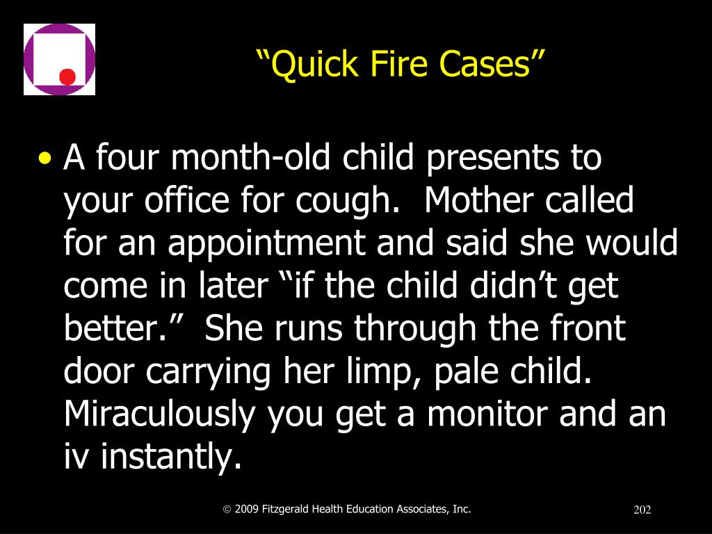 """Quick Fire Cases"""