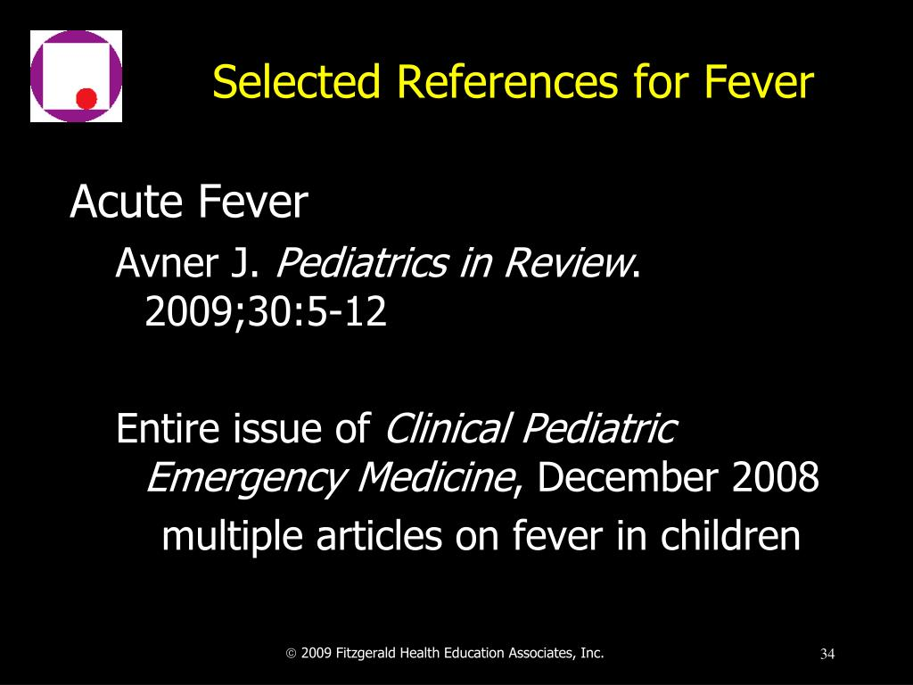 Selected References for Fever