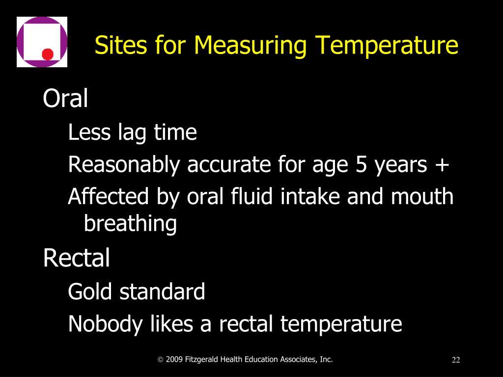 Sites for Measuring Temperature