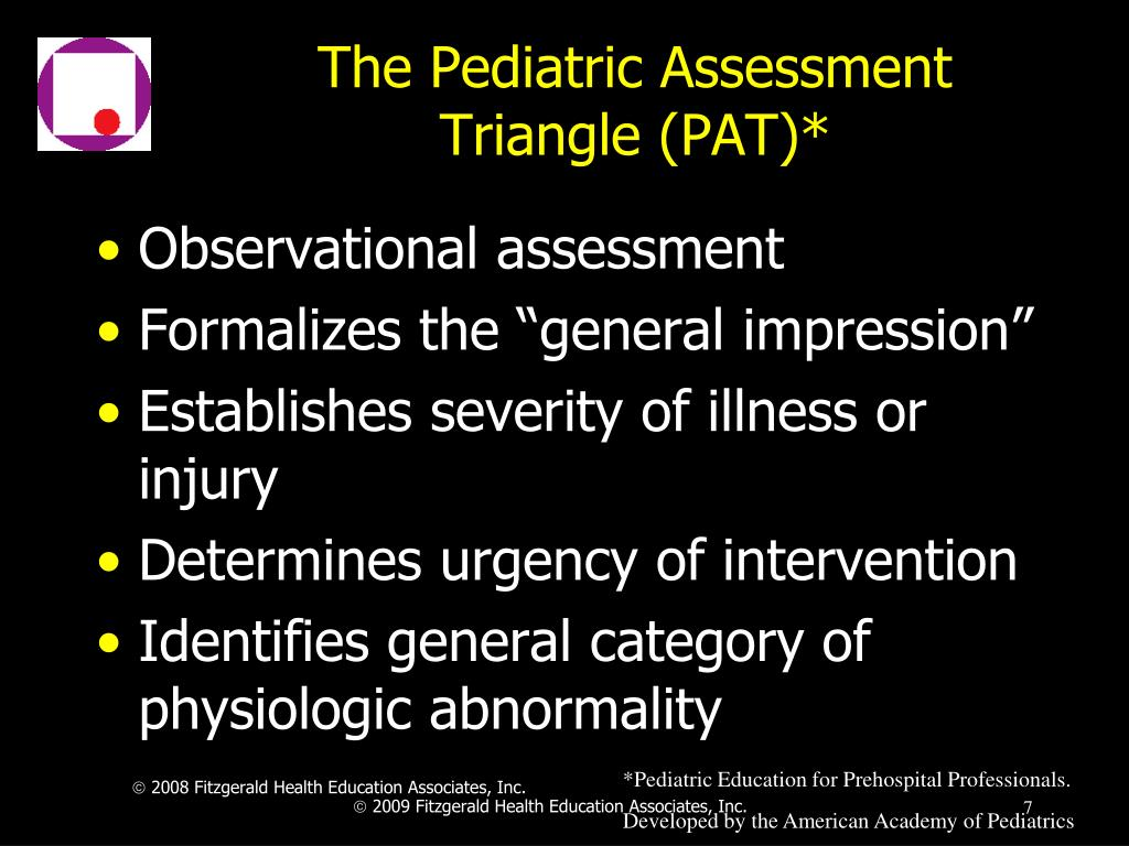 The Pediatric Assessment Triangle (PAT)*