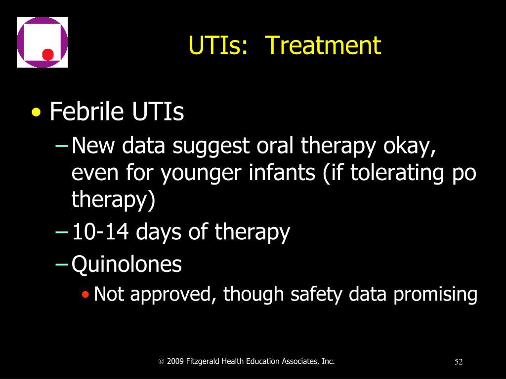 UTIs:  Treatment