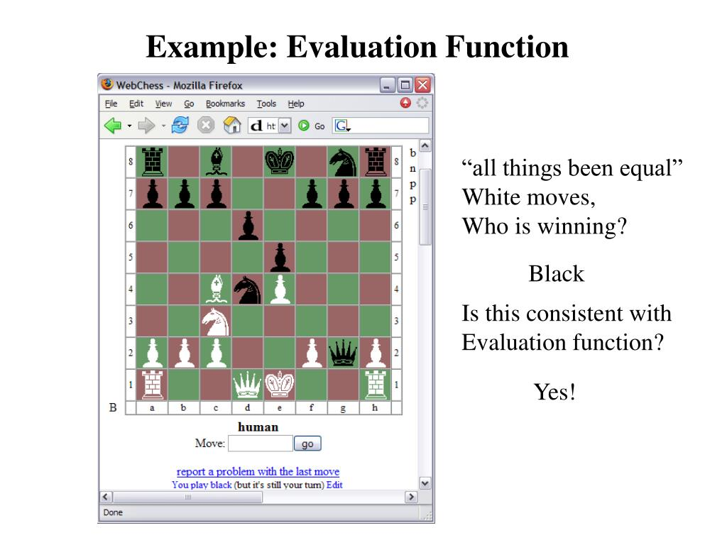 Example: Evaluation Function