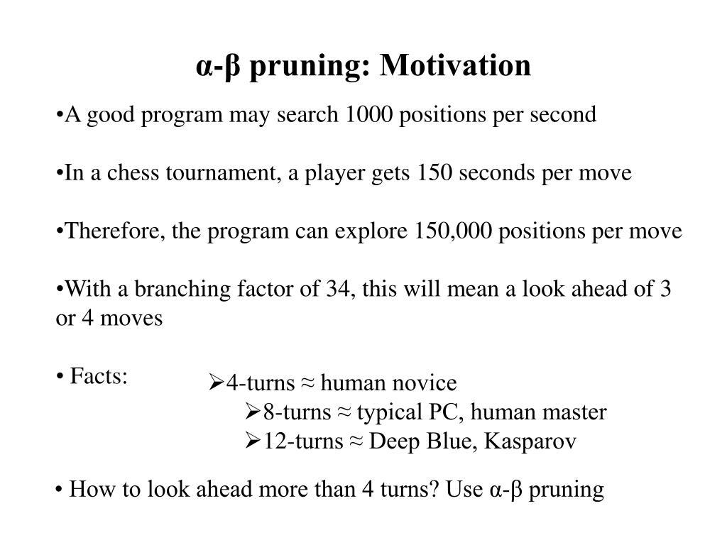 α-β pruning: Motivation