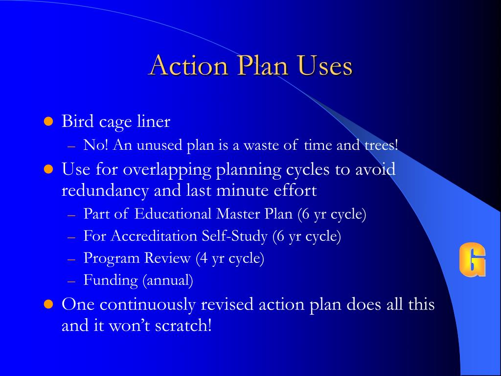 Action Plan Uses