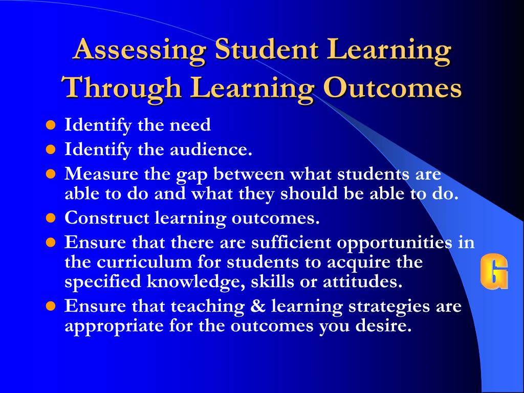 Assessing Student Learning Through Learning Outcomes
