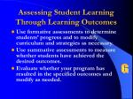 assessing student learning through learning outcomes58