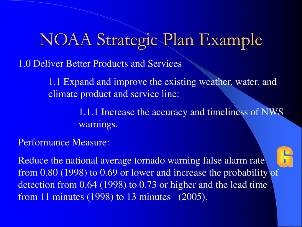 NOAA Strategic Plan Example