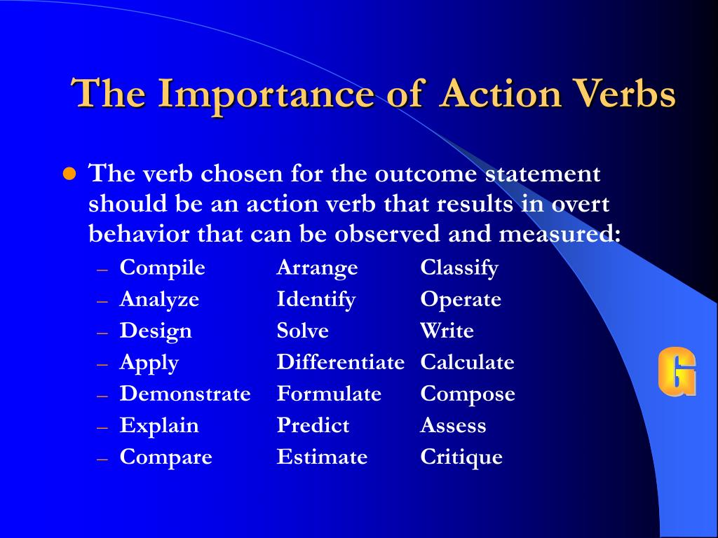 The Importance of Action Verbs