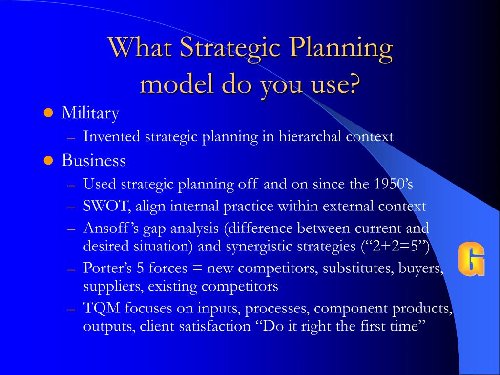 What Strategic Planning