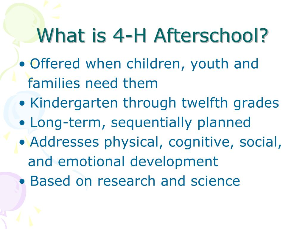 What is 4-H Afterschool?