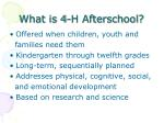 what is 4 h afterschool