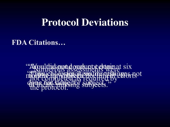 Protocol Deviations