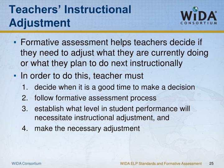 instructional adjustment essay