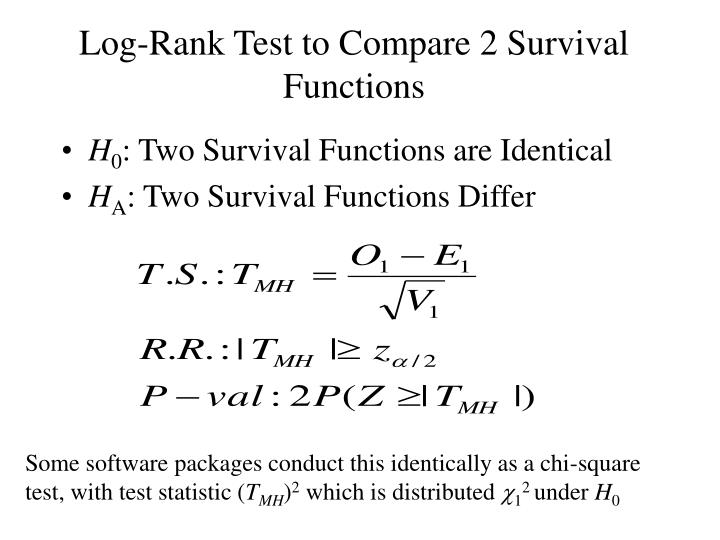 Log-Rank Test to Compare 2 Survival Functions