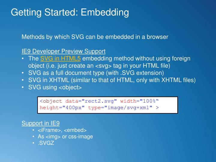 Getting Started: Embedding