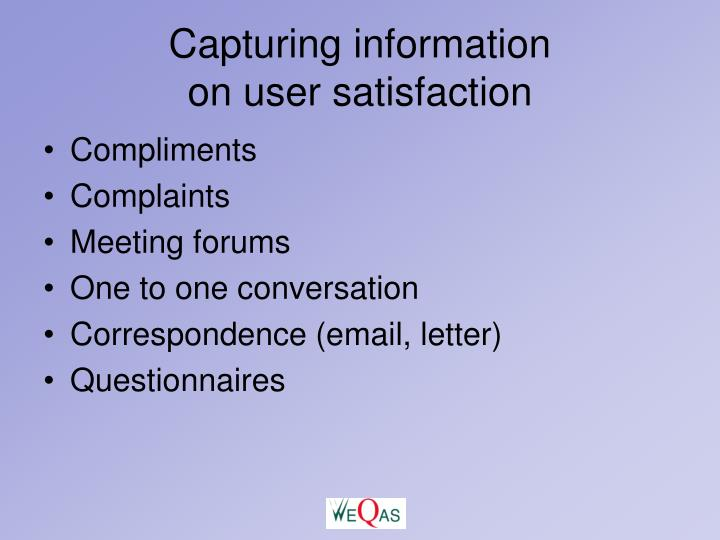 Capturing information