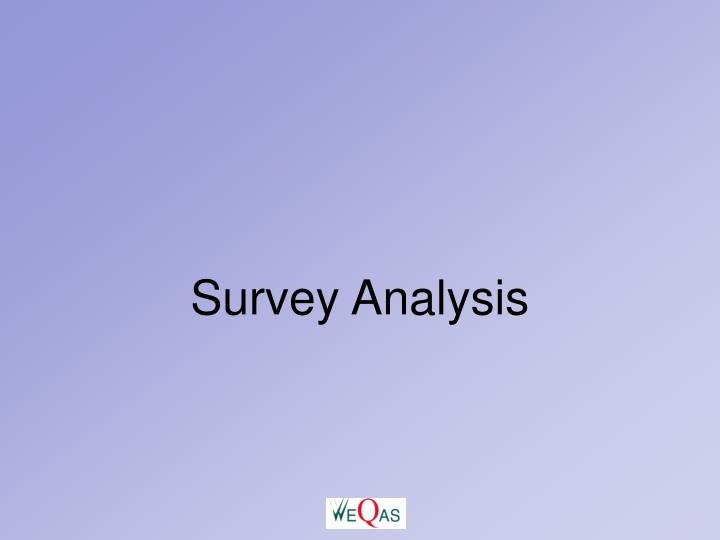 Survey Analysis