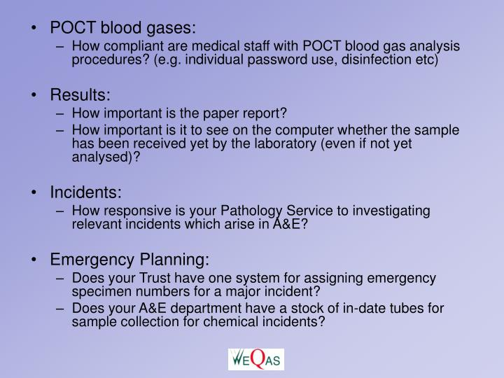 POCT blood gases: