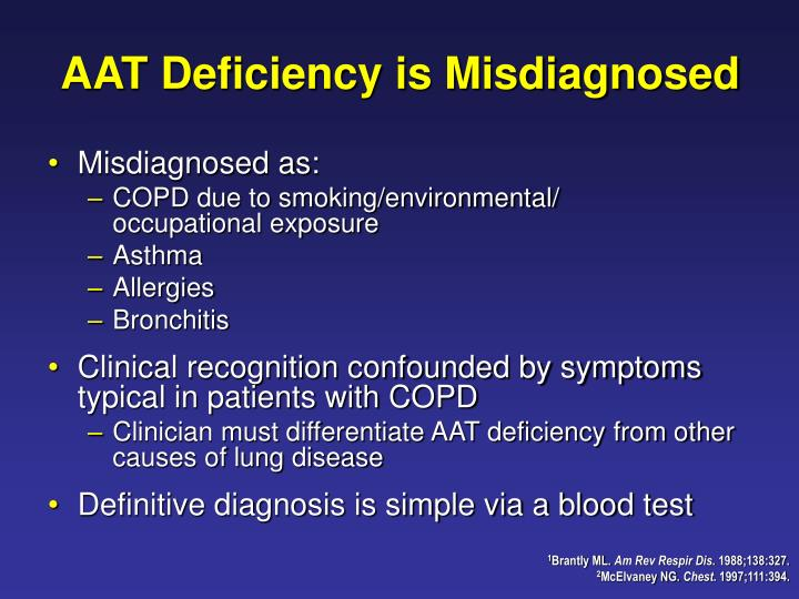 AAT Deficiency is Misdiagnosed