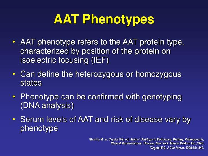 AAT Phenotypes