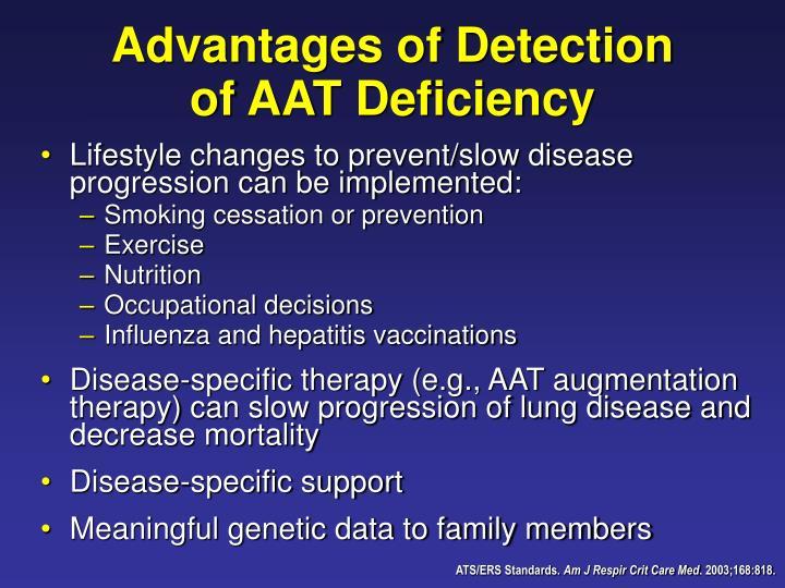 Advantages of Detection