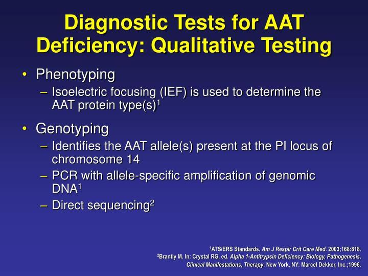 Diagnostic Tests for AAT Deficiency: Qualitative Testing