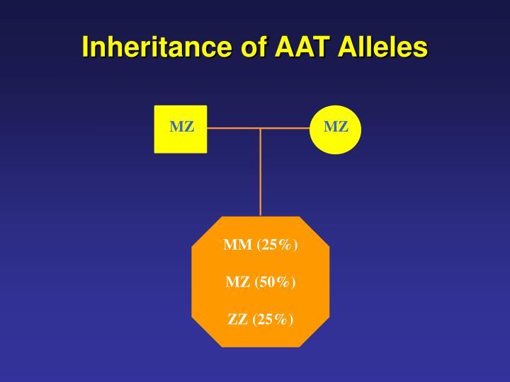 Inheritance of AAT Alleles