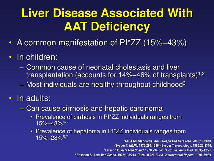 Liver Disease Associated With AAT Deficiency