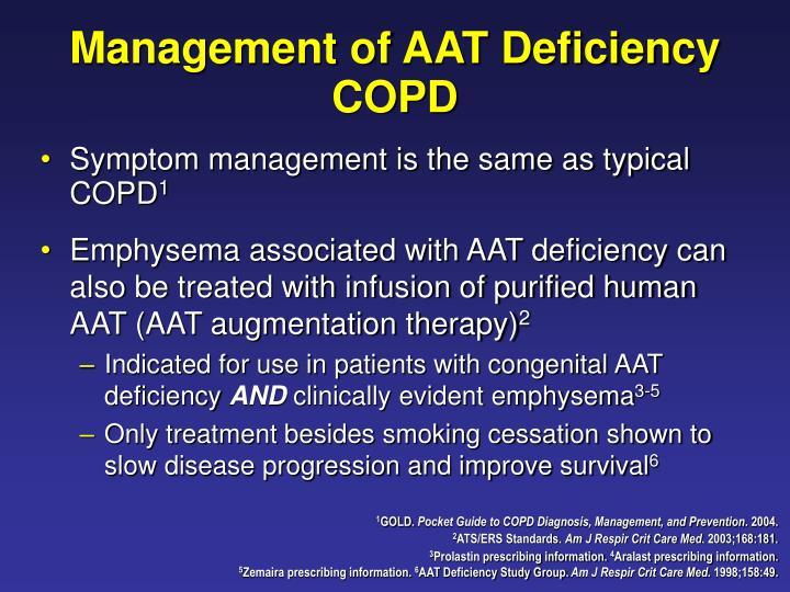 Management of AAT Deficiency COPD