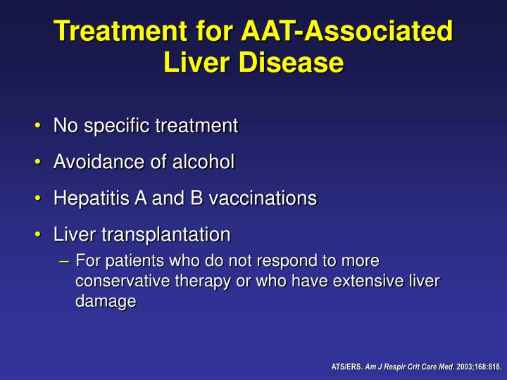 Treatment for AAT-Associated Liver Disease